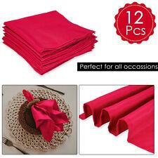 Table Napkins Dinner Napkin Cloth Polyester for Christmas Festive Pack of 12pcs