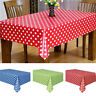 EG_ Polka Dots Spots Rectangle Plastic Tablecover Table Cloth Party Supplies Hea