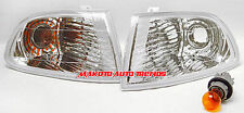 92-95 Honda Civic 4 Door Aftermarket Diamond Cut Clear Corner Lights w/ Bulbs