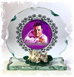 Donny Osmond, Deep Purple, Cut Glass Round Plaque, Limited Edition  #1