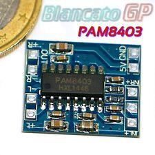 PAM 8403 MINI AMPLIFICATORE STEREO DIGITALE 3W + 3W ALTA EFFICIENZA DUE CANALI