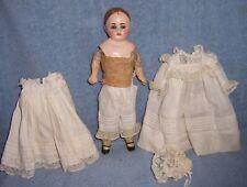 "11"" Antique German Paper Mache Child Doll~Wonderful Dress Outfit~Nice 4 Bisque"