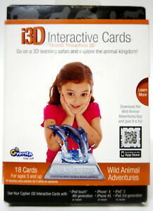 Cypher Kids Club i3D Interactive Learning Cards Wild Animal Adventures New IPad