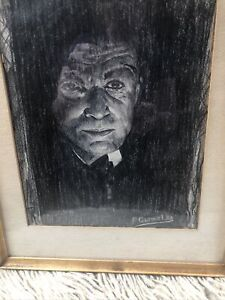 """Vintage Original 1938 Drawing Framed,12"""" By 15"""" Good Condition"""