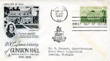 USA FIRST DAY COVER  200TH ANNIVERSARY OF GUNSTON HALL VIRGINIA  JUN 12 1958