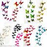 3D bricolaje mariposa pared pegatinas mariposa casa decoración 12pcs/set PDQ