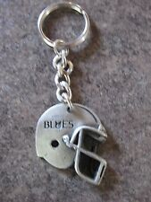 VARSITY BLUES FOOTBALL HELMET ( PEWTER ) KEY CHAIN KEY RING