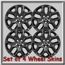 "Jeep Renegade Wheel Skins 17"" Black Hubcaps Wheel Covers 2015-2019"