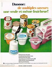 PUBLICITE ADVERTISING 105  1967  les yaourtsd DANONE Multiples saveurs