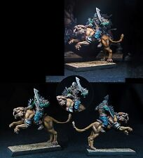 Albino Raven Miniatures 52mm Sabertooth With Orc Rider