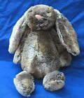 "JELLYCAT Bashful Woodland Babe BUNNY RABBIT Plush Stuffed Animal BROWN GRAY 12"""