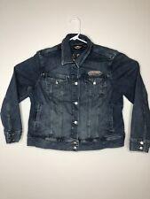 Harley Davidson Genuine Motor Clothes Biker Blues Jean Jacket Womens