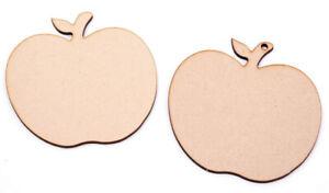Wooden Apple Shapes Apples with leaf Best Teacher Apple Tag Craft Shape