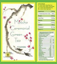Matcha Imperial Ceremoial Green Tea Powder 4oz Organic