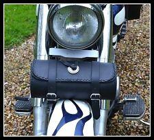 Sac trousse à outils en Cuir Rond Simple ( moto custom leonard daytona trike )
