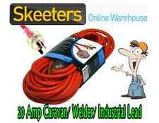 20 Metre 15 Amp AC Extension Lead - Caravan, Workshop, Welding Cable Cord NO LIP