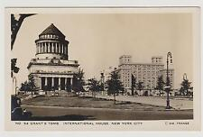 GRANT'S TOMB & INTERNATIONAL HOUSE REAL POHOTO POSTCARD BY FRANGE