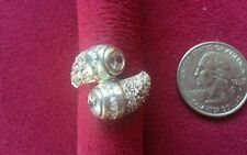 Beautiful Cubic Zirconia Ring Real Sterling Silver 925 Spoon *Size 7.5 or 10*E41