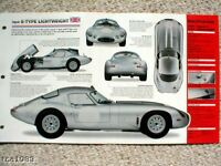 1963 JAGUAR E TYPE  LIGHTWEIGHT SPEC SHEET/Brochure