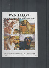 Palau 2012 MNH Dog Breeds of the World 4v M/S Rottweiler Collie Akita Corso