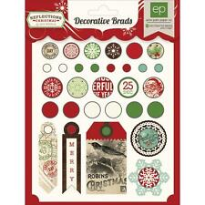 Echo Park Reflections Christmas Brads and Tags!! 30 pcs!!