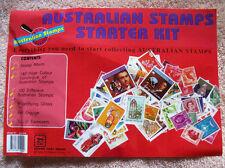 AUSTRALIA AUSTRALIAN STAMPS COLLECTORS STARTER KIT ALBUM CATALOGUE TWEEZERS