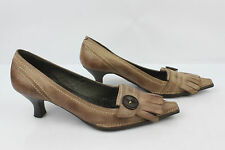 Court Shoes Gianna Di Firenze Leather Taupe T 36 Very Good Condition