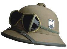 WH Tropenhelm + Brille DAK Uniform Afrikakorps Tropical Helmet with Glasses WWI
