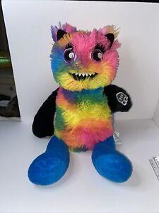 Build A Bear Mixters Monster Tie Dye Rainbow Black Arms Blue Legs Multi-Color