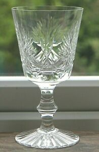 Vintage Edinburgh Crystal large wine glasses 'Star of Edinburgh' 5 available