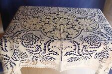 Très beau grand napperon ou petite nappe ancienne ou sur nappe ajourée 100 x 120