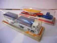 majorette serie 300 camion lot 2 magirus & ford bateau remorque truck - 366 365