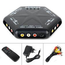 4 port sortie AV commutateur S-Video vidéo audio jeu RCA Box Selector Splitter + Remote