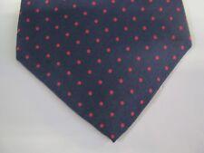 Stafford SILK Tie Necktie 57 x 3.75 blue pink polka dot 13814 Free US Ship