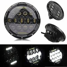 2x 7''Black Round LED Headlight Hummer Lamp & DRL For Jeep Wrangler JK TJ 97-17
