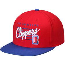 Los Angeles LA Clippers Mitchell & Ness NBA Cursive Snapback Hat Cap Blue/Red
