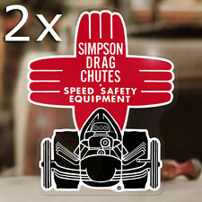 2x pieces Simpson Drag Chutes sticker decal old school hot rod drag racing 4.75""