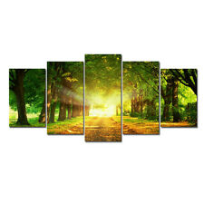 Painting Picture Photo Print on Canvas Home Wall Decor Landscape Green Forest