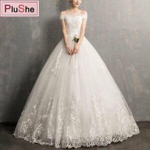 Plus size Luxury Lace Embroidery Wedding Dresses Elegant Bridal Dresses US10-24W