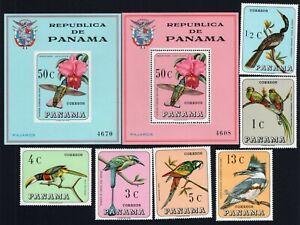 Panama 1967 complete set Mi#989-994, Bl.70-71 MNH CV=48€