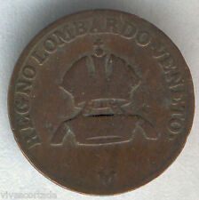Italia Lombardy - Venecia 1 Centesimo 1822 M cobre @ Muy Bella @