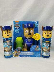 Nickelodeon Paw Patrol Action Bubble Blower Chase lot with extra bubbles (bs)