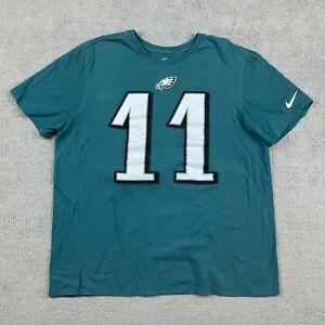 Nike Men's Short Sleeve T-Shirt XL Green 11 Wentz Athletic Cut 100% Cotton