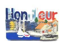 Honfleur Hafenstadt Magnet Souvenir Poly Frankreich Normandie,Neu