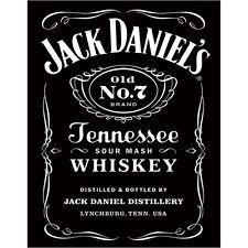 Jack Daniels No 7 Tennessee Whiskey Metal Sign Vintage Bar Decor 12.5x16