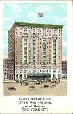 New listing New York City, New York, Hotel Woodstock - Postcard (G3)