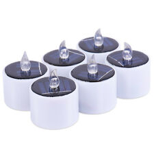 6pcs LED Kerze Lampe Warm White Solar Power Yard Nachtlicht flammenlose Teelicht