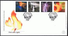 Fuego y luz 2000 primer día cubierta-SG2129 a SG2132 3' 10 Edimburgo cancelar