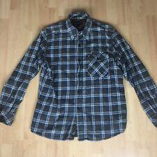 Men MCS Marlboro Classics Shirt Check Flannel Cotton Casual Size Large
