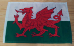 "WALES FLAG - 45cm x 30cm - 18"" x 12""  -  Welsh Flag"